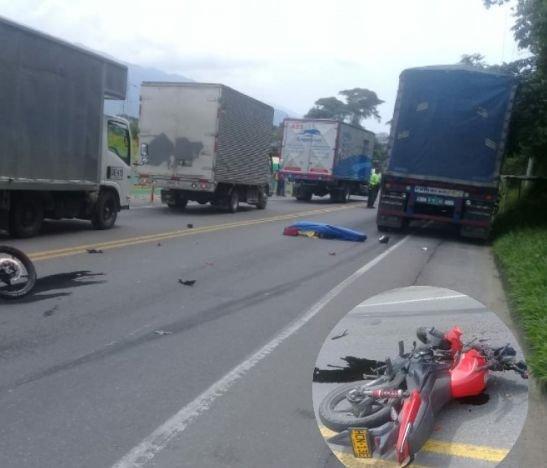 Motociclista murió esta mañana tras un accidente en la variante de Ibagué