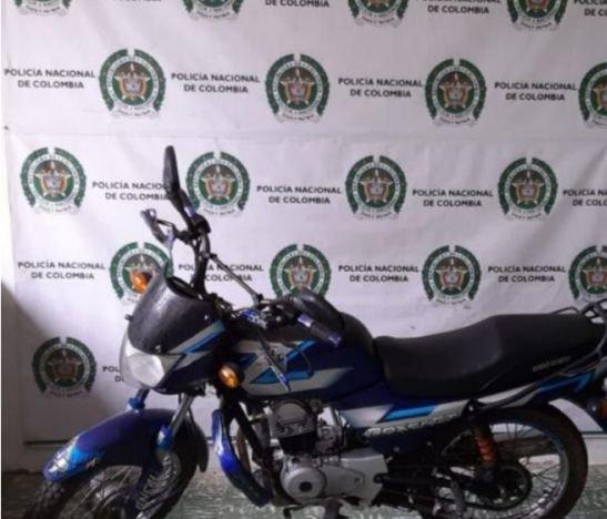 Motocicleta hurtada hace una semana fue recuperada por la Policía