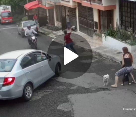 Ladrón en moto le robó el celular a una mujer, pero se metió a una calle ciega