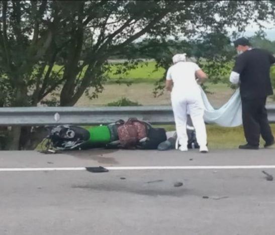 Motociclista murió está mañana en la variante de El Espinal