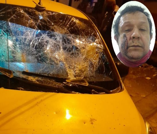 Delincuentes atracaron a un taxista y le destruyeron su vehículo