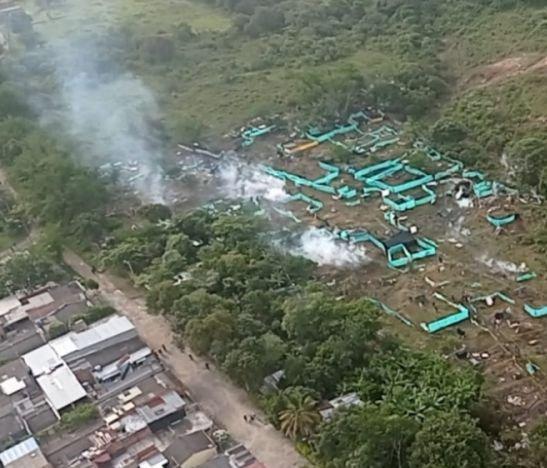 Iniciaron los desalojos de la invasión en la Ciudadela Simón Bolívar