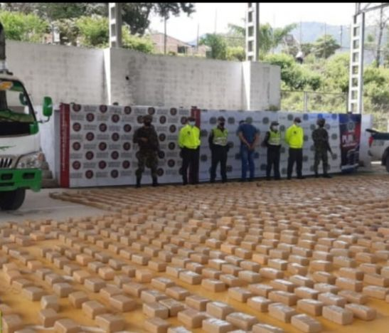 Casi dos toneladas de marihuana cayeron en poder de la Policía del Tolima