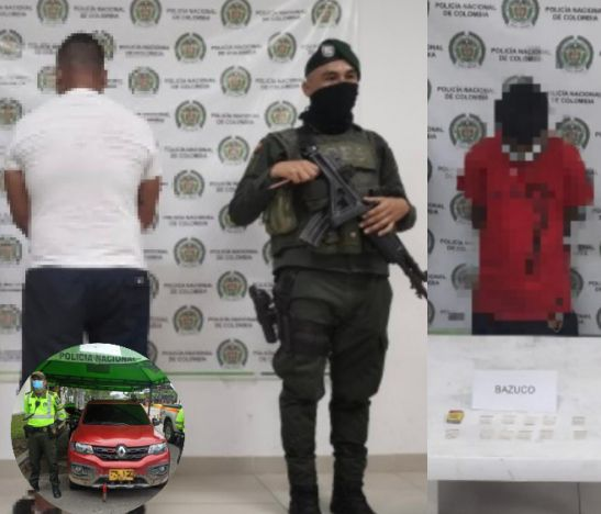 Grupo de operaciones especiales y personal de tránsito lograron la captura de dos personas en El Espinal