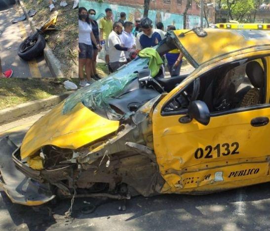 En delicado estado de salud permanecen los ocupantes del taxi que se accidentó ayer