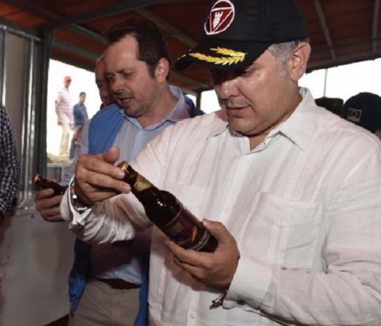 Ivan Duque en Icononzo, Cerveza Policarpa