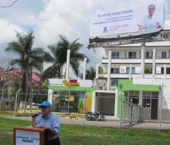 Leonidas López propuso construir un Ibagué Arena para dinamizar la economía de la ciudad