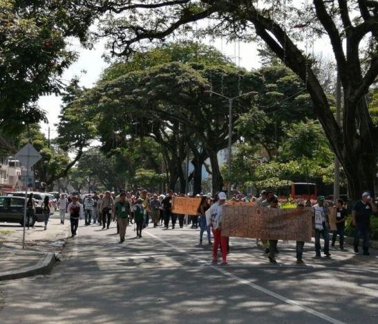 Indígenas del departamento marcharon en conmemoración del día Internacional de los Derechos Humanos