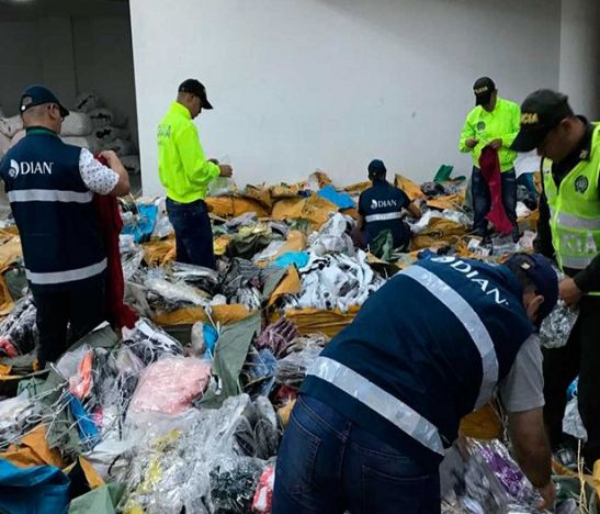 Dian decomisó mercancías de confecciones por más de 20 mil millones de pesos