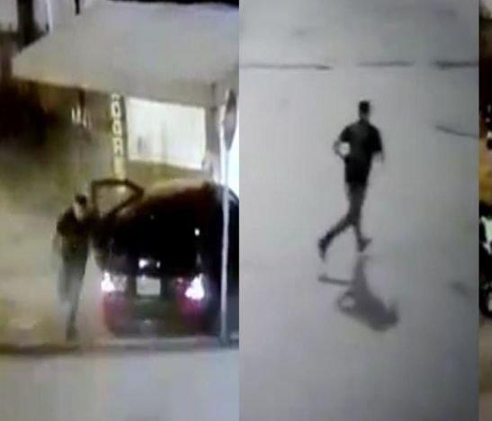 En video quedó registrado cómo un conductor estrella su vehículo y se escapa