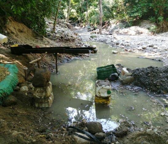 Cortolima suspendió minería ilegal en la quebrada Las Juanas del municipio de Lérida