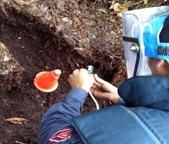 Soldados desminadores identificaron tres artefactos explosivos en Chaparral y Planadas