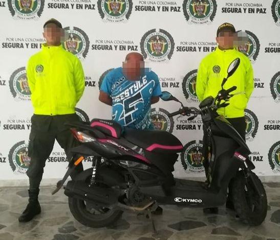 Por comprar moto robada fue capturado en la capital Tolimense