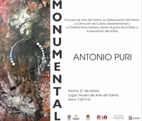 Inauguración Exposición Monumental- Antonio Puri (India)
