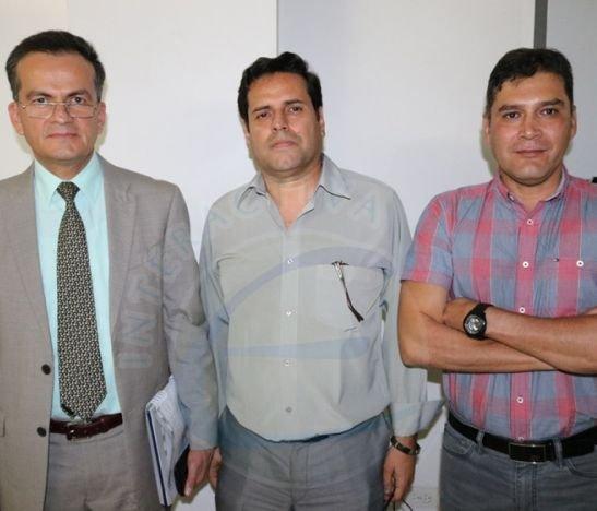 José Alexis Mehcha, Hernán Silva y Alfonso Pineda
