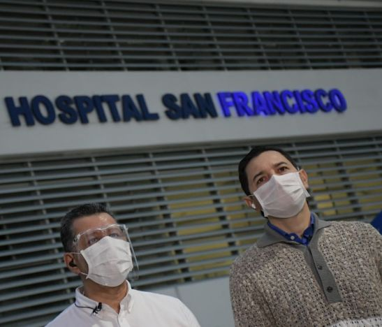 Gobernador del Tolima y alcalde de Ibagué visitaron Hospital San Francisco