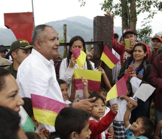 Óscar Barreto, gobernador del Tolima, 2018