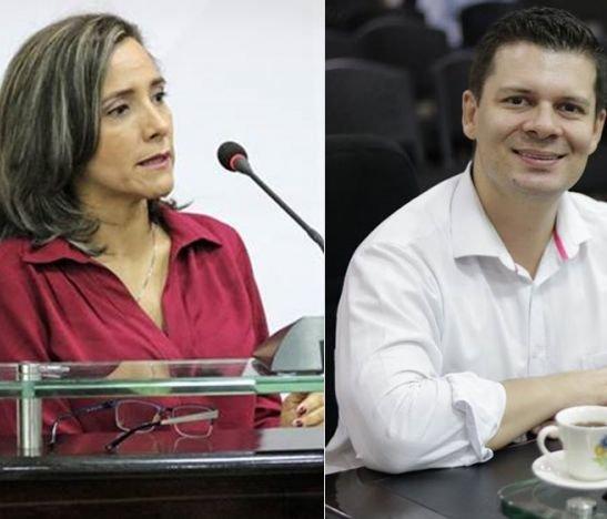 Diputado Jorge Duque y María del Carmen Muñoz, secretaria de Hacienda