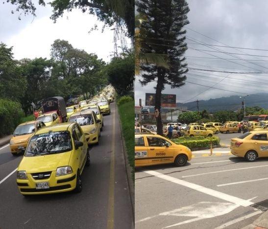 ¡Tremendo caos! Taxistas paralizaron la ciudad