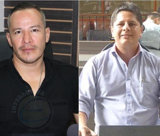 Carlos Alberto Hoyos, director de Espacio Público --Víctor Hugo Gracia, concejal de Ibagué