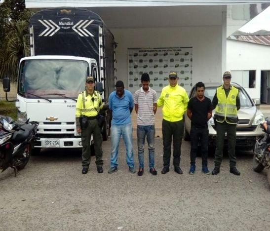 Cayeron piratas terrestrestras hurtar vehículos en la vía Palocabildo – Falan