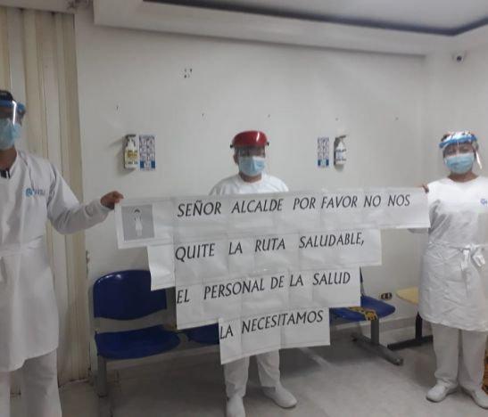 Trabadores de la salud piden nuevamente que no les suspendan la 'ruta saludable' por riesgos y dificultades en el transporte público