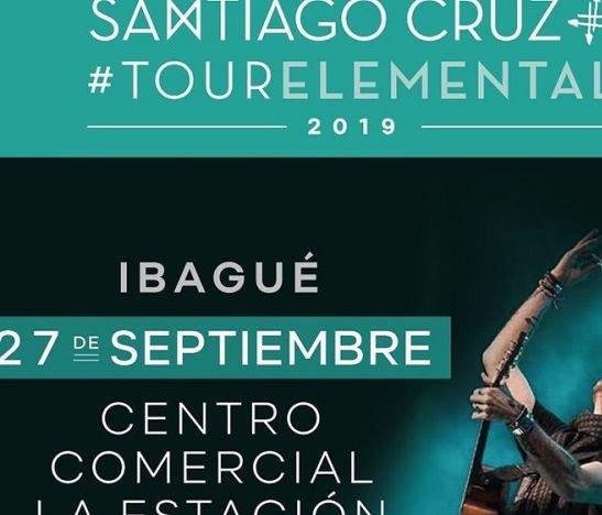 ¡Confirmado! Santiago Cruz se presentará en Ibagué