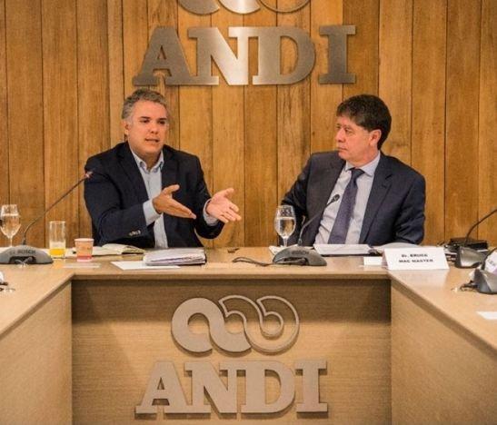 Iván Duque con la ANDI 14 DE JULIO