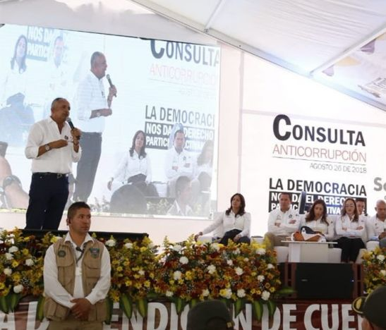 Públicamente el gobernador del Tolima afirmó que el 26 de agosto estará apoyando la Consulta Anticorrupción