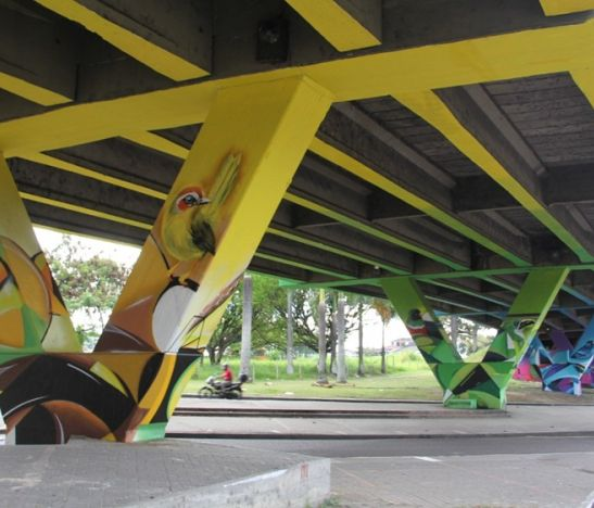 Se entregó oficialmente el embellecimiento paisajístico del viaducto del SENA