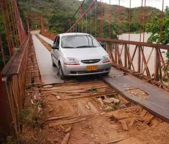 En veremos las obras del puente Las Delicias de Alpujarra que comunica con el departamento del Huila