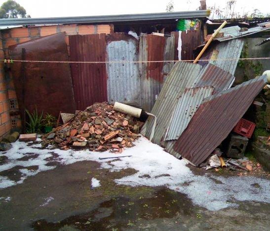 Granizada en Villahermosa dejó 30 familias damnificadas