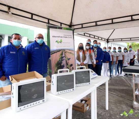 La Concesionaria Alternativas Viales SAS, entregó dotación médica al Hospital del Líbano