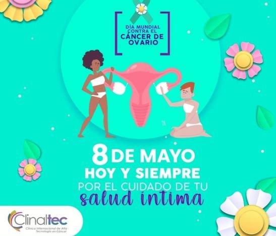 Hoy y siempre por el cuidado de tu salud íntima, es el mensaje de Clinaltec en el día mundial del Cáncer de Ovario