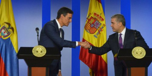 HD--presidentes de Colombia, Iván Duque Márquez, y del Gobierno español, Pedro Sánchez,