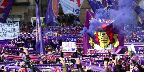 Despedida de David Astori, capitán de la Fiorentina