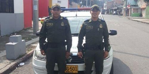 Policías exaltados en Ibagué
