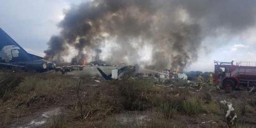 Avión Aeromexico se estrella