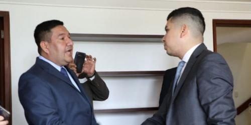 HD- Ministro de Vivienda, Jonatán Malagón y alcalde de Coyaim, Oswaldo Alape-22 de noviembre