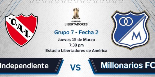Milllonarios vs Independiente
