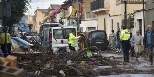 Inundaciones en Mallorca, España
