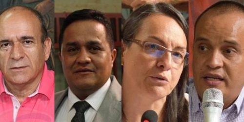 HD- concejales Pedro Mora, Alberto Lozano, Marta Ruiz y Juan Pablo Salazar.