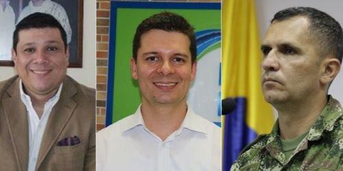 Milton Restrepo, Jorge Duque, Coronel César Augusto Barrios