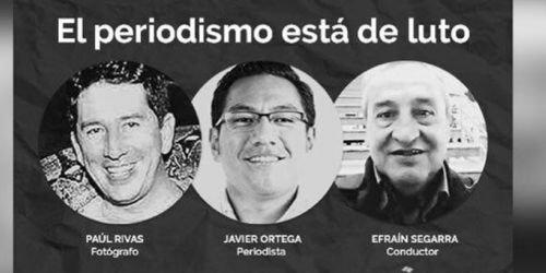 Periodistas muertos en Ecuador