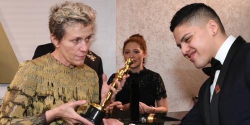 Actriz Frances McDormand con Premio Oscar