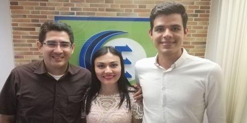Erika Ramos, Julián Rodríguez y Disraeli Labrador