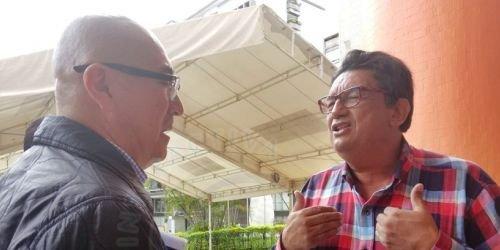 Secretario de Gobierno, José Edith Rojas y abogado e integrante del Comité de Granaderos de Cajamarca, Jaime Cáceres