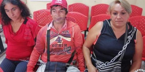 Víctimas del municipio de Icononzo se encadenaron en la UAO 23 de mayo