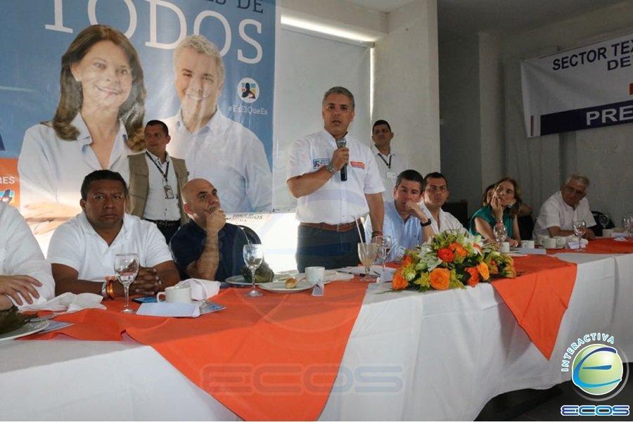Duque Desayunos con empresarios del Tolima
